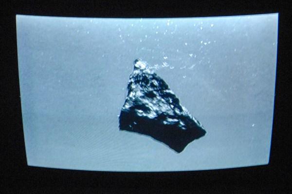 Heleen Blanken - Before Dawn, a ripple in the future left traces in the past - 1060x308cm Videoprojectie, loop en waterbassin