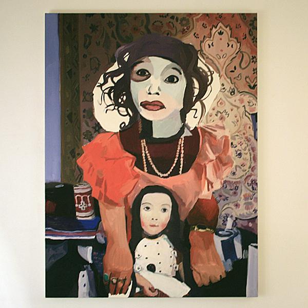 Helen Verhoeven - Mother 2 - 90x67cm Olieverf op canvas