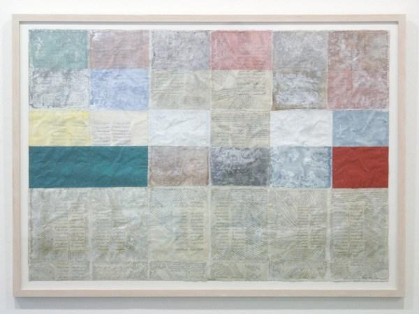 Henri Plaat - Zonder Titel - 78x108 cm Collage en gouache