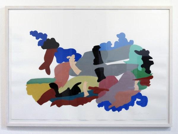 Henri Plaat - Zonder Titel - 78x108 cm Gouache