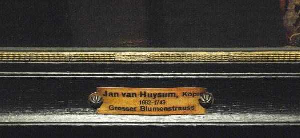 Henri de Fromantiou - Bloemstilleven met oosters tapijt - Olieverf op doek (detail)