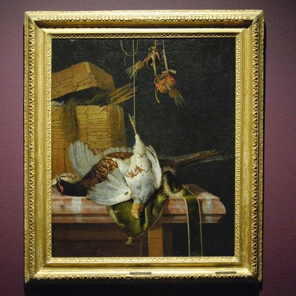 Henri de Fromantiou - Jachtstilleven met dode patijs en fazant - Olieverf op doek, 1672