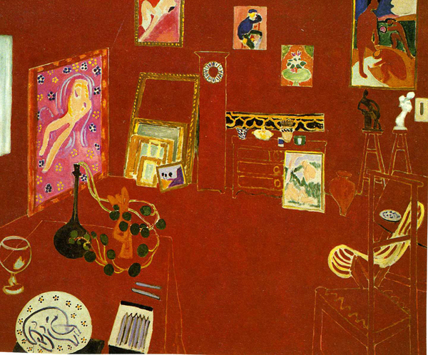 Henry Matisse - The Red Studio - 181x219cm