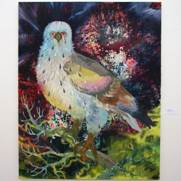 Hidde van Schie - De Onbegrepen Regenboogvogel - Olieverf, acrylverf en spuitverf op doek