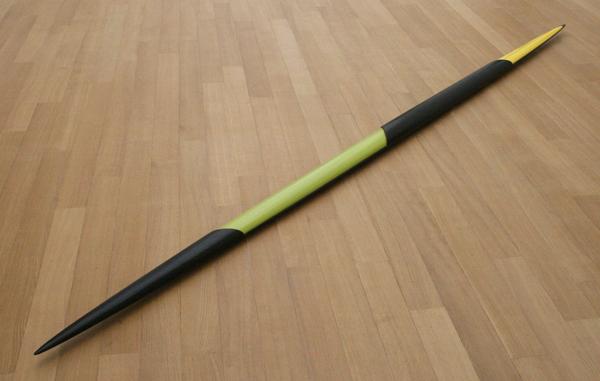 Isa Genzken - Grun-schwarz-gelbes Ellipsoid - Verf op hout