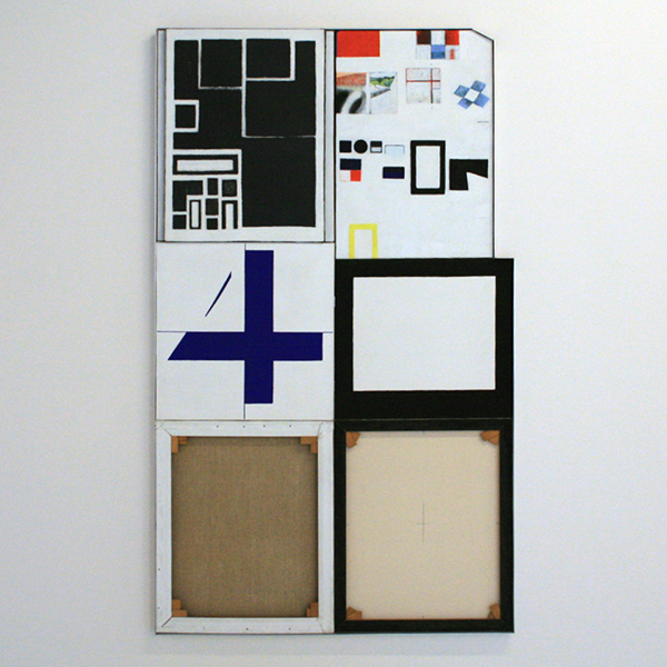 JCJ Vanderheyden - Naast elkaar tegelijkertijd - Olieverf en potlood op linnen
