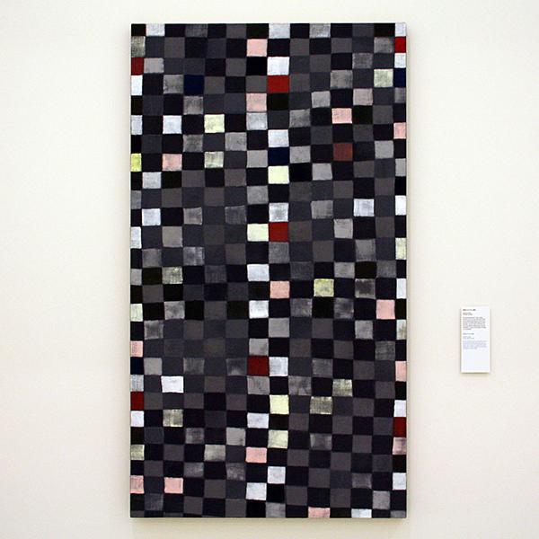 JCJ Vanderheyden - Pixels 27x14 - Acrylverf op doek 2000
