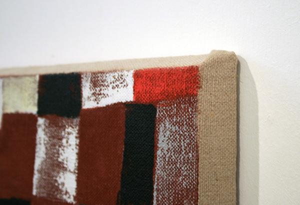 JCJ Vanderheyden - Red Checkerboard - 44x39x3cm Acrylverf op linnen (detail)