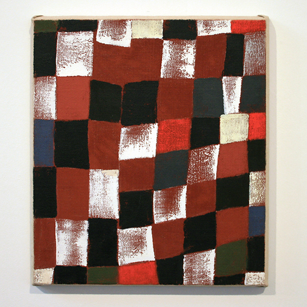 JCJ Vanderheyden - Red Checkerboard - 44x39x3cm Acrylverf op linnen