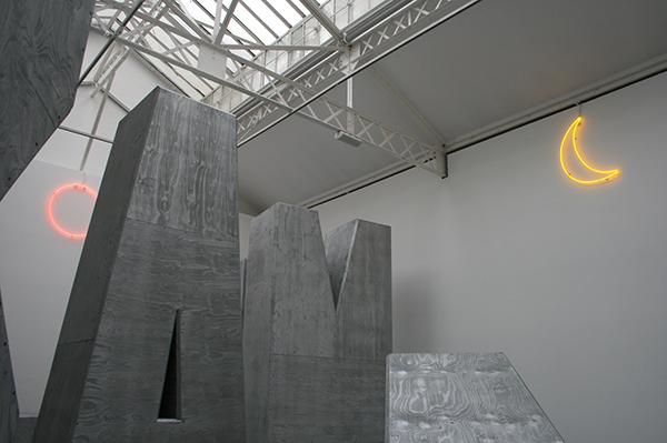 Jack Pierson - Untitled (Moon) - 91x61cm Neon & 91x91cm
