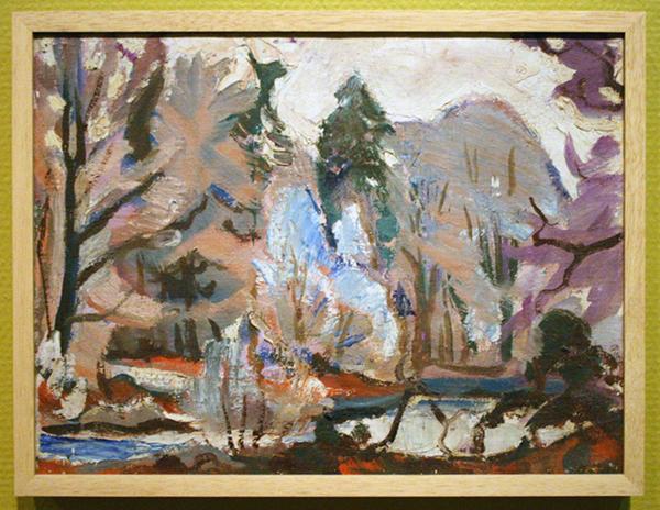 Jan Gerrit Jordens - Zonder Titel (Park, Noorderplantsoen) - Olieverf op canvas