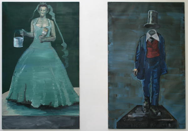 Jan Wattjes - Sacrifice of the Bride & Uniform of a Painter - 165x100cm Olieverf op doek