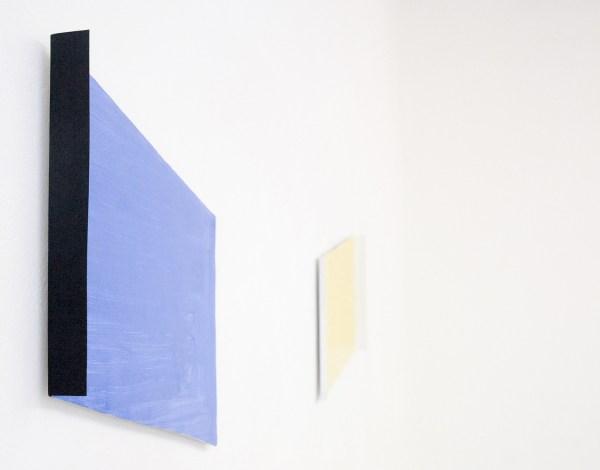 Jan ten Have - Zwart Licht vs Wit Licht - Vierluik, 32x49cm Porelein en met olieverfbeschilderde kisten (detail)