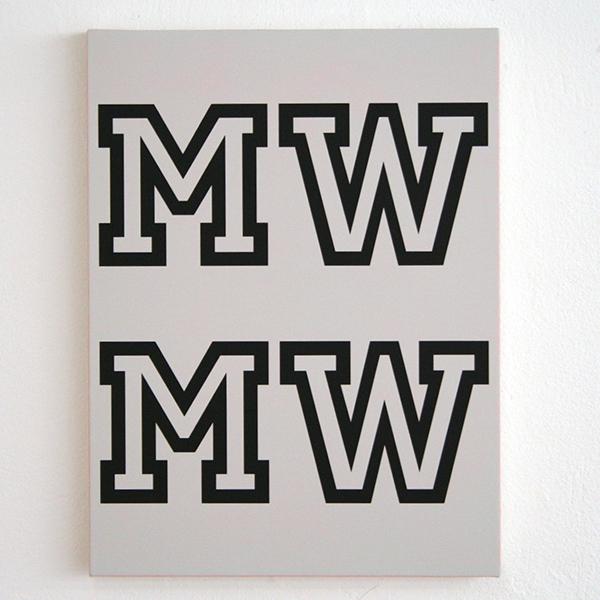 Jan van der Ploeg - MWMW - 40x30cm Acrylverf op canvas