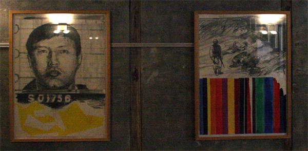 Jan van der Pol - 'Oorlog is geen foetbalwedstrijd' Mao Tse Toeng, A,B,C,D,E en F - 76x56cm Zesdelige serie tekeningen potlood en aquarelverf op papier