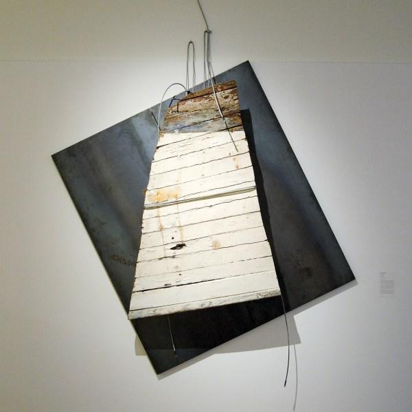 Jannis Kounellis - Albatros - Staal en bootrestant, 2001
