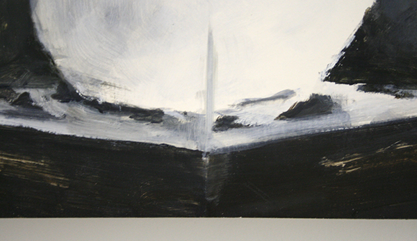 Jasper Hagenaar - Lepus Timidus - 31x28cm Olieverf op papier op paneel (detail)