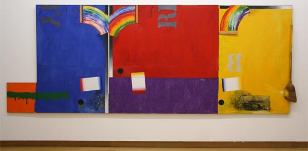 Jasper Johns - Untitled - Olieverf, bezem en linealen op doek