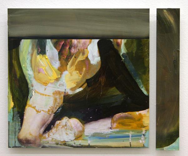 Jenny Wilson - The Oddest Frame of Sense - 30x37cm Olieverf op foto op dibond