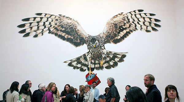 Jeremy Deller, A good Day for Cyclists, painted by Sarah Tynan