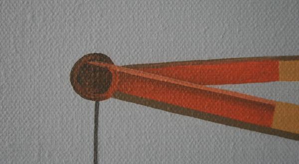 Jeroen Allart - Waalhaven - 100x100cm Acrylverf op doek (detail)