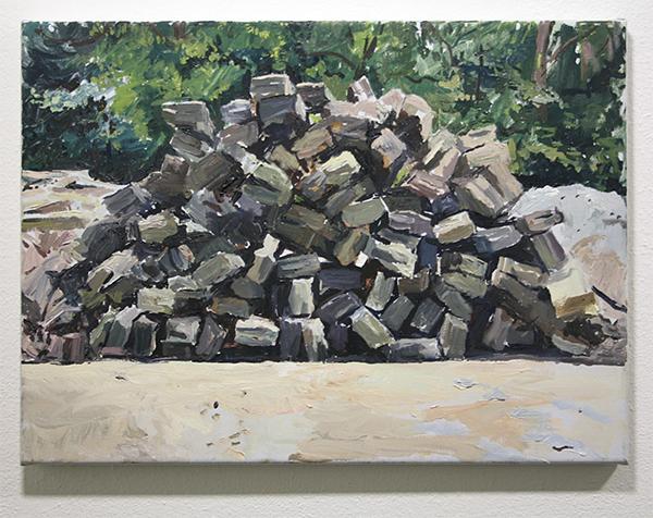 Jim Harris - Pile of Stones - 40x55cm Olieverf op doek