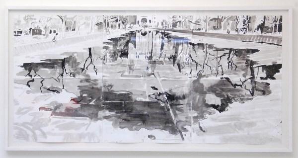 Jim Harris - Rijksmuseum - 110x220cm Inkt op papier