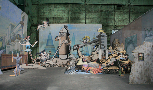 Jim Shaw - Deluge of Mythical Thinking - Installatie
