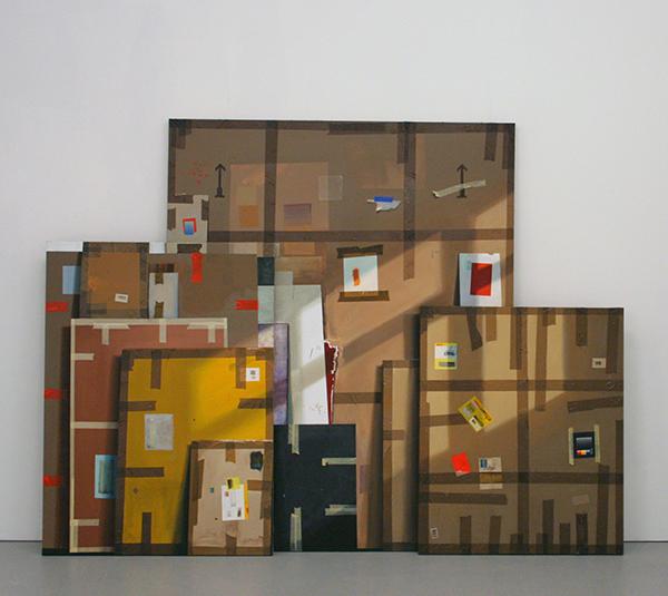 Jochem Muhlenbrink - Bilder Einer Ausstellung (Triptychon) - drieluik, 220x280cm Olieverf op doek