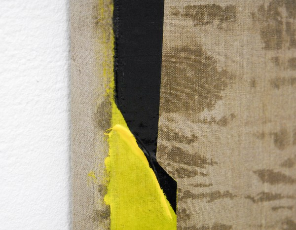 Jochen Muhlenbrink - Objects in the mirros are closer then they appear II - 220x170cm Acrylverf op linnen (detail)