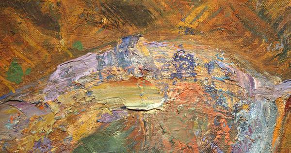 Johan Dijkstra - Zichter in het Koren - Olieverf op doek (detail)