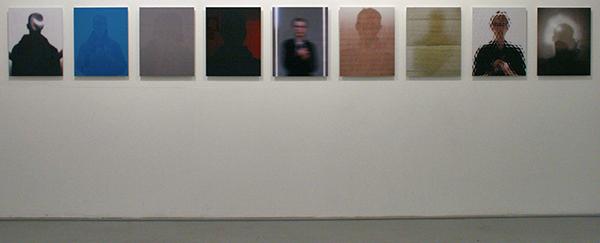 Johan Nieuwenhuize - Self Portrait with; Olafur Eliasson, Walid Raad, Hans Haacke, James Turrel, Germaine Kruip, Roy Lichtenstein, Ger van Elk, Anish Kapoor, Lawrence Weiner - 60x48cm C-print