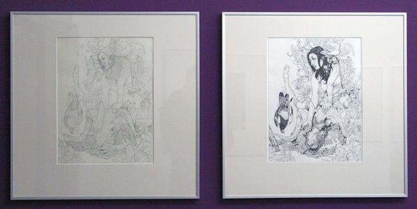 John Dyer Baizley - Meir - 31x41cm Potlood op papier & Indische Inkt op papier