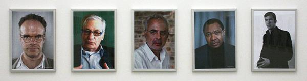 Jonas Lund - The Top 100 Highest Ranked Curators in The World, 2013 - 29x21cm, Laserprint op papier (1, Bonami, 2 Hoet, 3 Enwezor, 4 Obrist, 5 Burr)