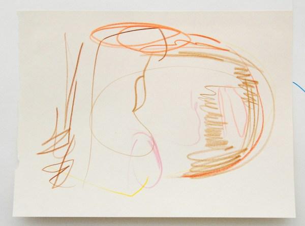 Joost Krijnen - Interior Monologue - 101x125cm Houtskool, kleurpotlood, tape en potlood op papier (detail)