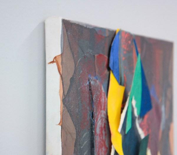 Joseph Montgomery - Image Three Hundred Seven - 41x31x4cm Pastel, papier, klei, plastic en pigment transfer op linnen (detail)
