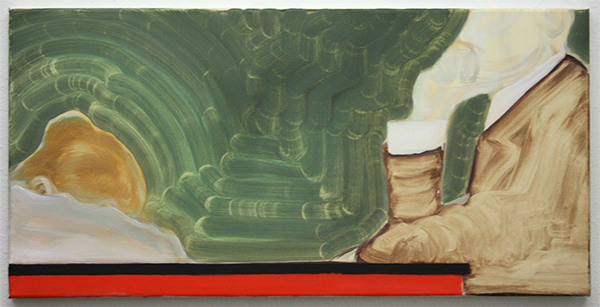 Josephine Baan - Zonder Titel - 40x80cm Olieverf op linnen