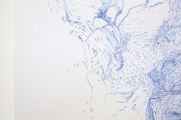 Josine Timmer - Zonder Titel - Acrylinkt op papier (detail)