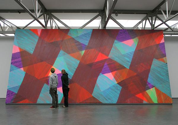 Katharina Grosse - Zonder Titel - Acrylverf op doek 2003