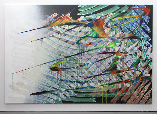 Katharina Grosse - Zonder Titel - Acrylverf op doek 2005