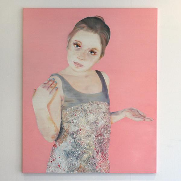 Katinka Lampe - Untitled (131636) - 160x130cm Olieverf op canvas