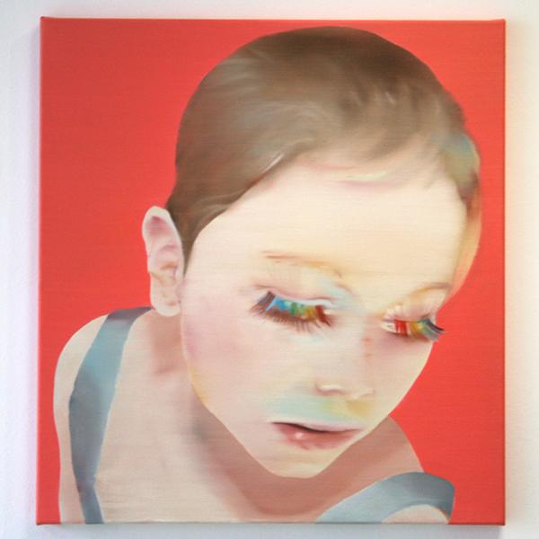 Katinka Lampe - Untitled (606525) - 60x65cm Olieverf op canvas