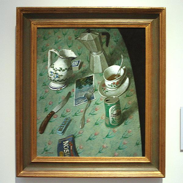 Kenne Gregoire - Tafelrand - Acrylverf op doek, 1999