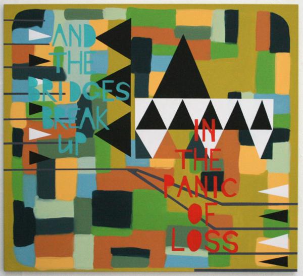 Kim van Norren - And the Bridges Break Up In the Panic of Loss - 140x160cm Acrylverf op doek