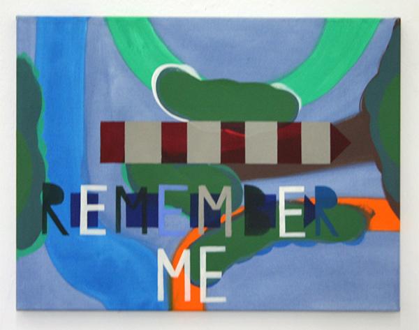Kim van Norren - Remember Me - 50x65cm Acrylverf op doek (tekst Dido's Lament Opera Henry Purcell)