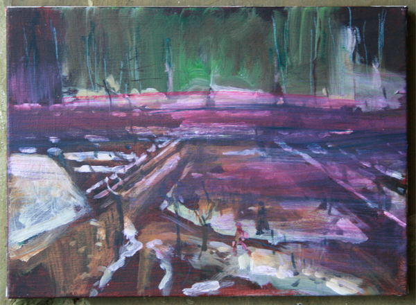 Koen Broucke - Zonder Titel (Nuenen) - 40x55 Acrylverf op doek