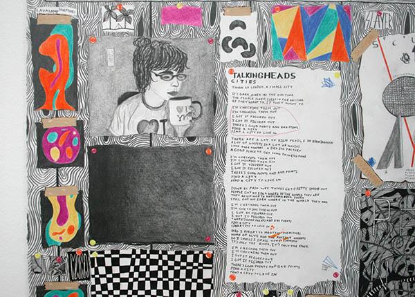 Koen Taselaar - Multititled 4 (Another Magnum Opus) - 195x136cm Mixed media op papier (detail)_2