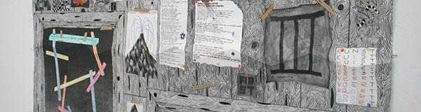 Koen Taselaar - Multititled 4 (Another Magnum Opus) - 195x136cm Mixed media op papier (detail)_3