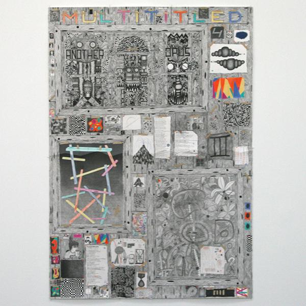 Koen Taselaar - Multititled 4 (Another Magnum Opus) - 195x136cm Mixed media op papier