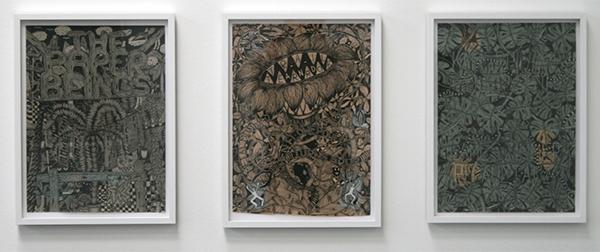 Koen Taselaar - The Paper Beings & Trail and Error & Kamerplant Compositie, Imaginary Band #156, #165 & #161 - 45x32cm Inkt en collage op papier